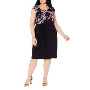 Connected apparel Sleeveless floral cocktail dress